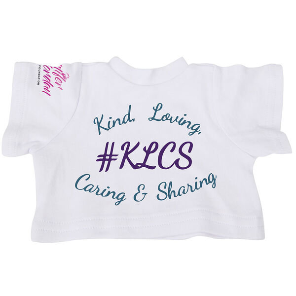 "15"" Spark Kindness T-Shirt - White short sleeved t-shirt with Spark Kindness artwork on the front, left sleeve and back image number 1"