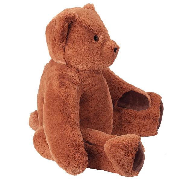 4' Classic Big Bear - side seated view on cinnamon brown bear with dark brown foot pads image number 2