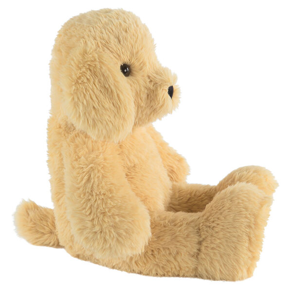 """18"""" Oh So Soft Puppy - Side view of seated tan 18"""" Puppy with tail and ivory foot pads image number 4"""