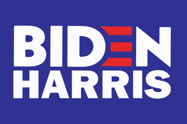 An image of the Biden Harris campaign logo