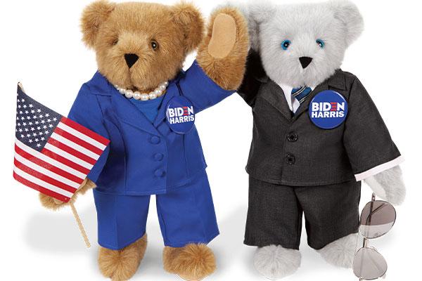 An image of the 15-inch Joe Biden and Kamala Harris Bears