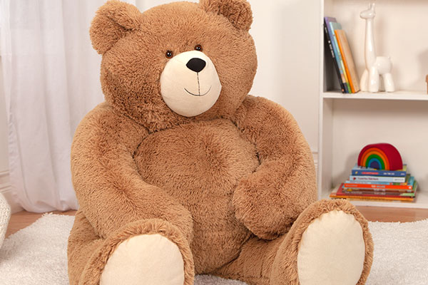 A close up images of the  4-foot Big Hunka Love Bear