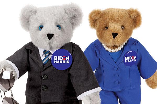 An image the 15-inch Joe Biden & Kamala Harris bears
