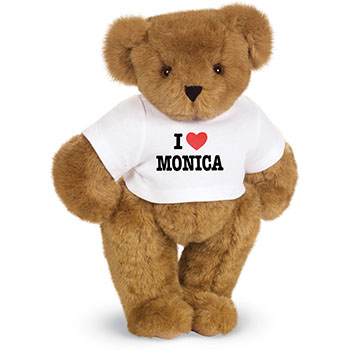 An image of the 15-inch I Heart You Personalized T-Shirt Bear