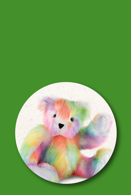 An image of the 20-inch True Colors United Rainbow Bear