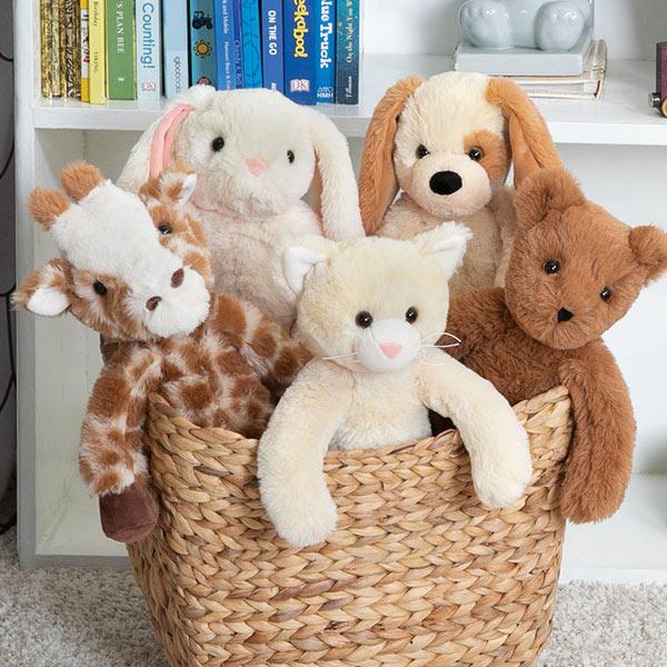 An image of the Buddy Giraffe, Buddy Kitten, Buddy Bunny, Buddy Puppy and Buddy Bear bears