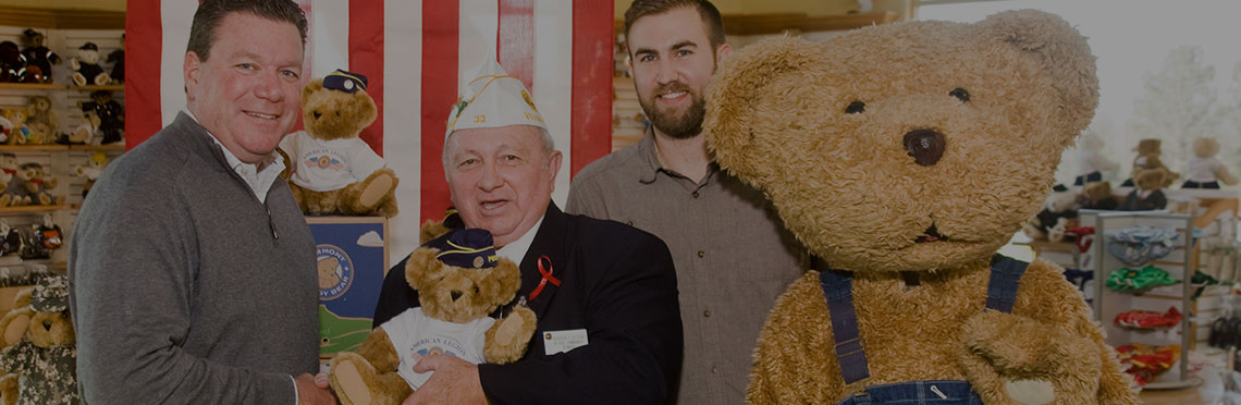 An image of the 15-inch American Legion Bear