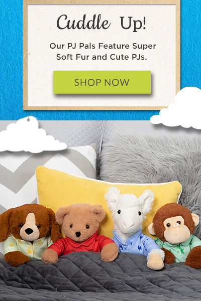 An image of the 13-inch PJ Pal Collection sitting on a bed